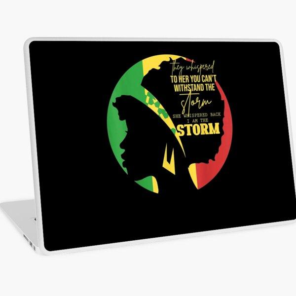 Afro Women Gift Melanin African American Black History Month  Laptop Skin