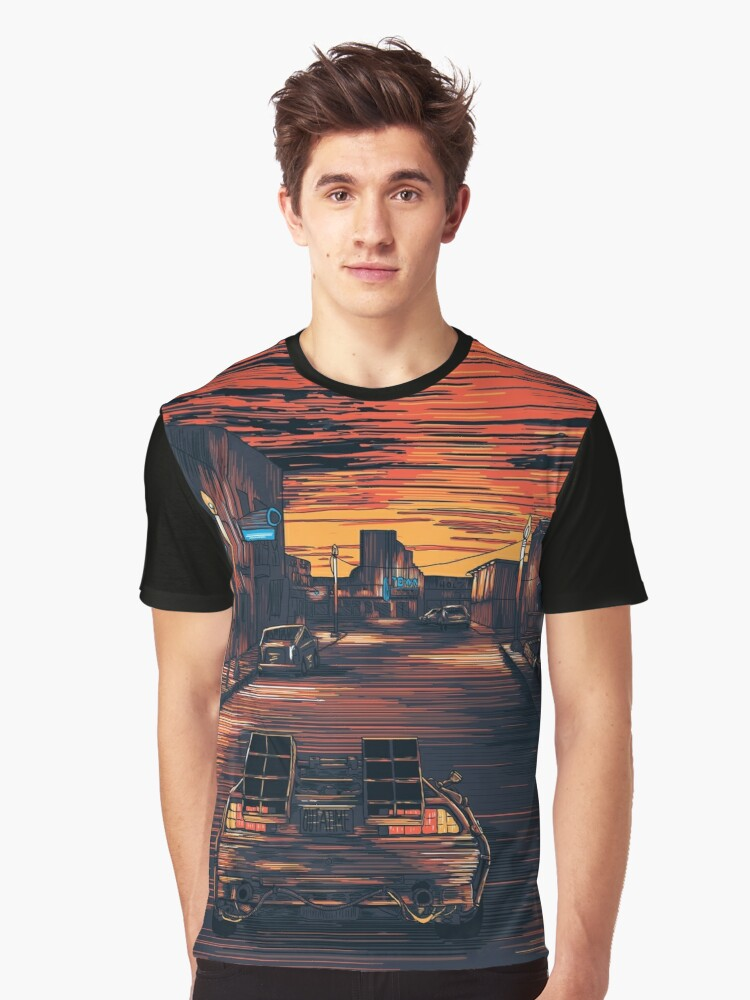 Back To The Future Version 2 Graphic T-Shirt Front
