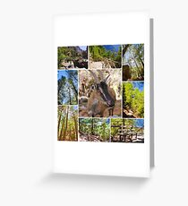 Photo collage of Samaria Gorge images in central Crete, Greece Greeting Card