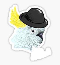 Bowler Hat Cockatoo Sticker