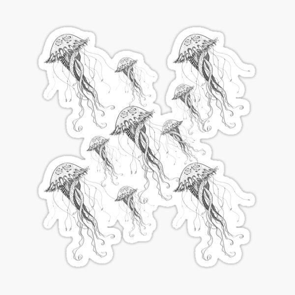 Jelly Fish - Sea Water - Ocean Creatures - White Sticker