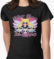 Biker Moon Womens Fitted T-Shirt