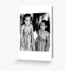 """UnHappy - Flower Girls"" Greeting Card"
