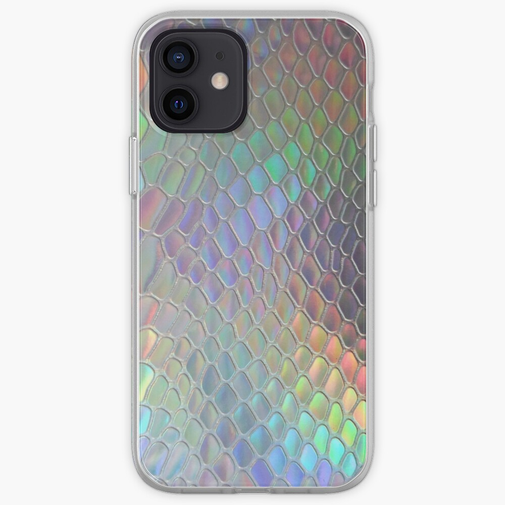 Coque iPhone « Croc holographique»