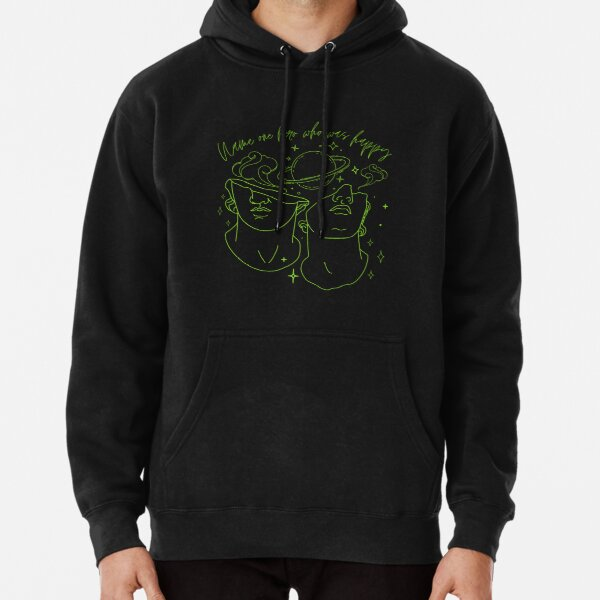 Song of Achilles Poet/Achilles and Patroclus/Name one hero who was happy/Greek Mythology Art/Book Lover Gift Pullover Hoodie