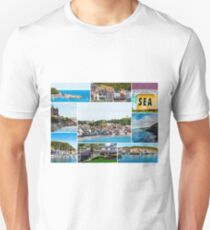 Photo collage with panoramic images from Scarborough, North Yorkshire, England T-Shirt