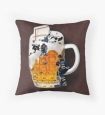 █ ♥ █ THE GOOD OLD HOCKEY GAME - BEER- HOCKEY PLAYERS FUN DECORATIVE PILLOW & TOTE BAG CHEERS HE SCORES █ ♥ █ Throw Pillow