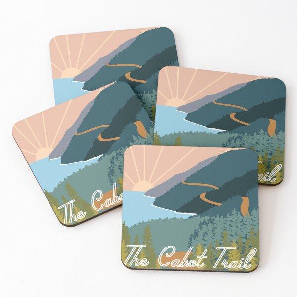Retro Cabot Trail Coasters (Set of 4)