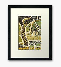 a piece of green fields Framed Print