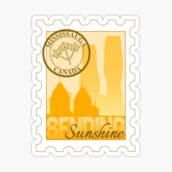 Mississauga Sending Sunshine Postage Stamp Sticker Sticker