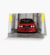 Red Sports Car - Front Greeting Card