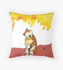 Calvin and Hobbes Hugs Throw Pillow