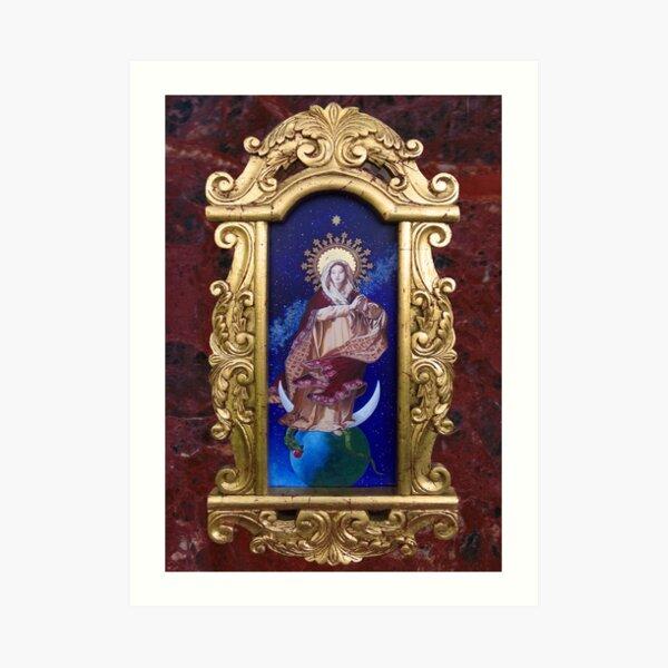 Baroque Framed Regina Coeli, Stella Maris, Imperatrix Mundi 2021 Art Print