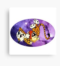 Calvin and Hobbes Laugh Canvas Print