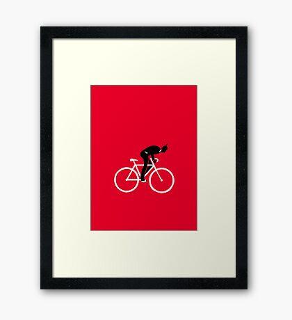 Weird Hauptstadt Biker VRS2 Framed Print
