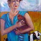Chook lady by Frances Henke