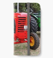 Old red tractor iPhone Wallet