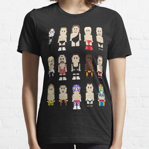 8-Bit Wrestlers Down South Essential T-Shirt