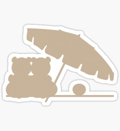 Teddy Bears Beach Romance VRS2 Sticker