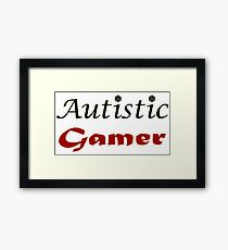 Autistic Gamer Framed Print