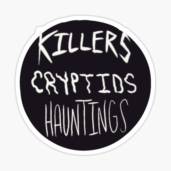 Killers Cryptids Hauntings Logo Sticker
