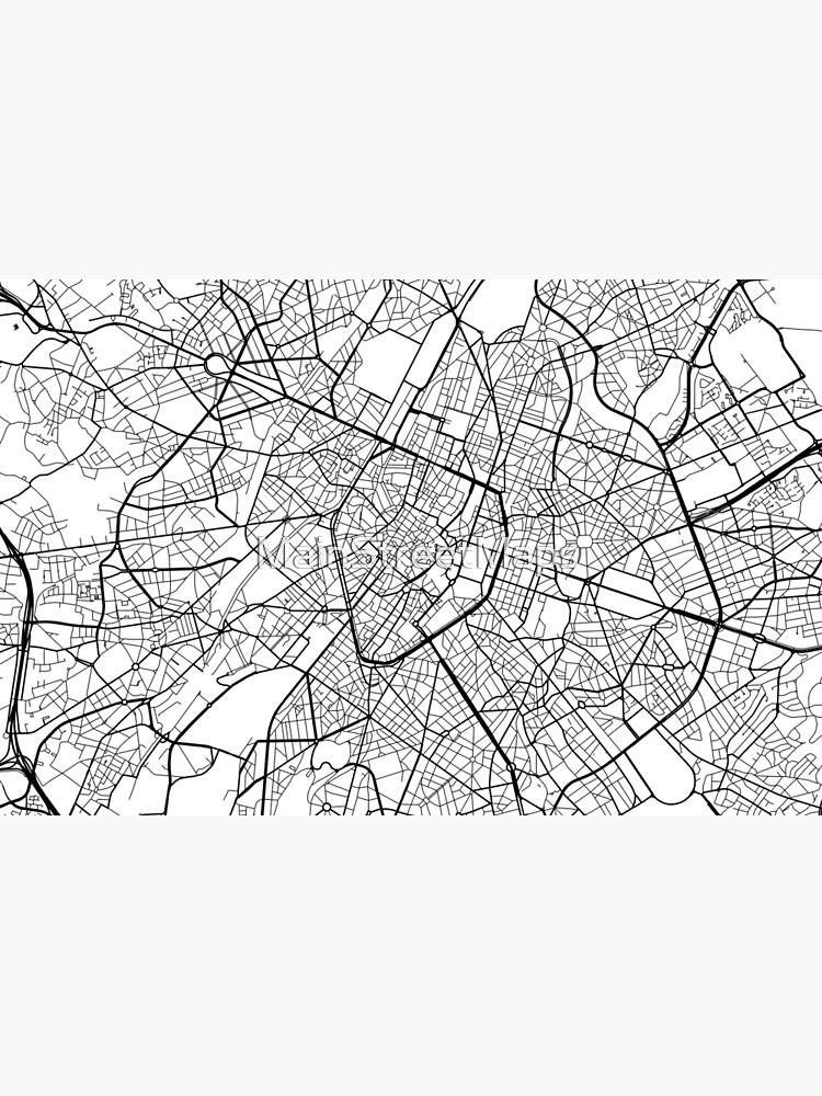 Carte Belgique Noir Et Blanc.Carte De Bruxelles Belgique Noir Et Blanc Skin Adhesive D Ordinateur