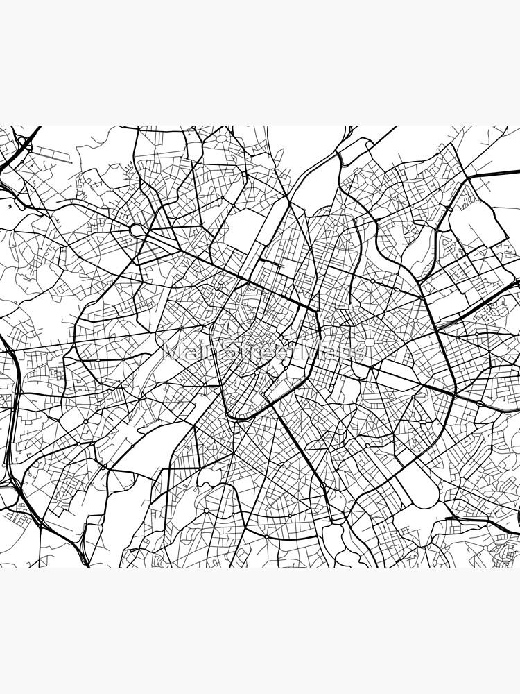 Carte Belgique Noir Et Blanc.Carte De Bruxelles Belgique Noir Et Blanc Housse De Couette