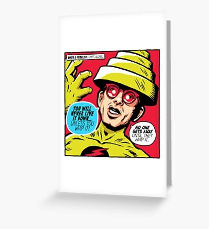 Post-Punk Reverse Greeting Card