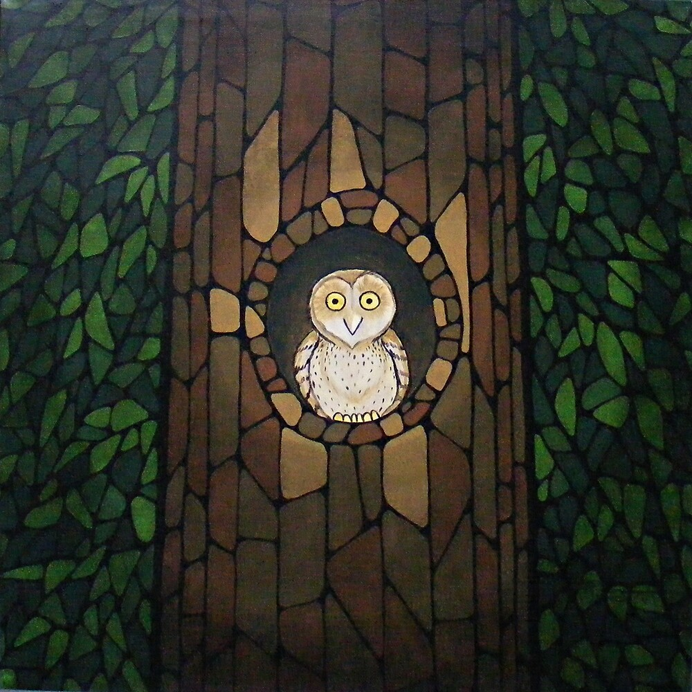 Masked Owl by Lantern Light by Toradellin