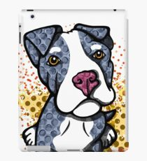 Blue Pit Bull Puppy Graphic iPad Case/Skin
