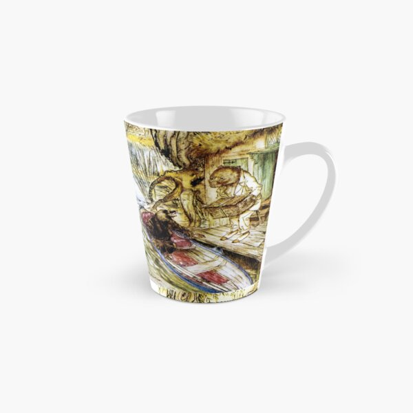 Ratty and Mole on the Riverbank - Wind in the Willows, Arthur Rackham Tall Mug