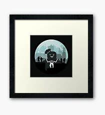 Ghostbusters versus the Stay Puft Marshmallow Man Framed Print