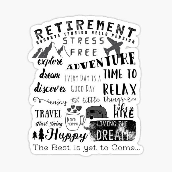 Retirement Apparel Sticker