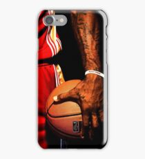 lebron james handling ball iPhone Case/Skin