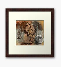 Me and myself in you Framed Print