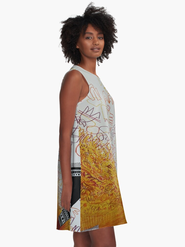 Alternate view of Floating Away A-Line Dress