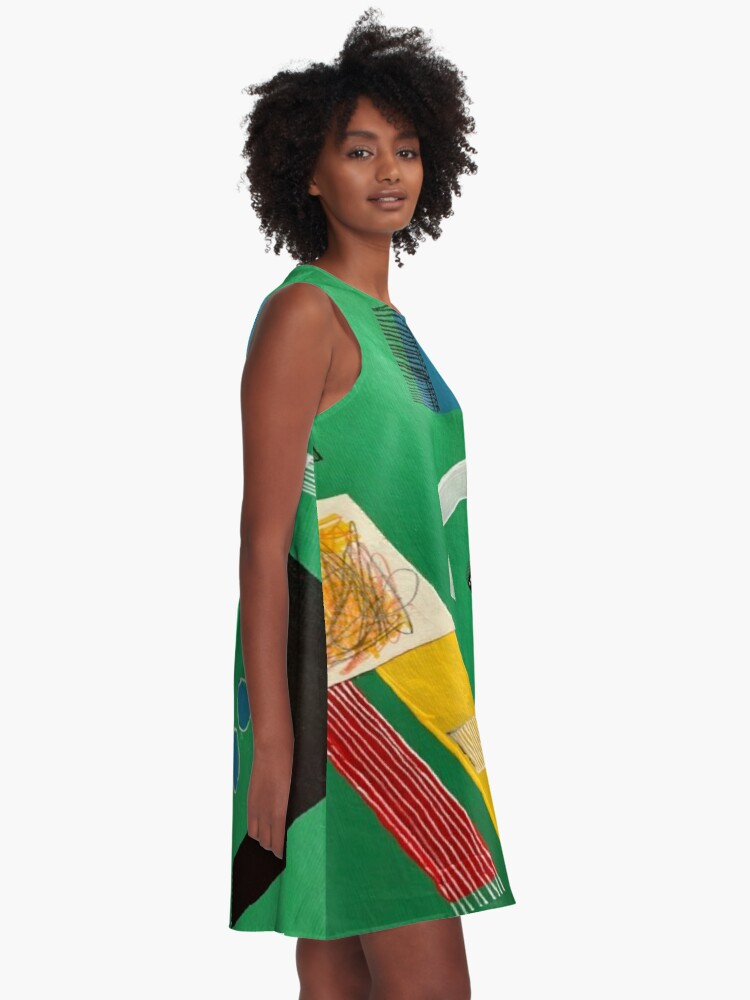 Alternate view of Green Rug Bugs A-Line Dress