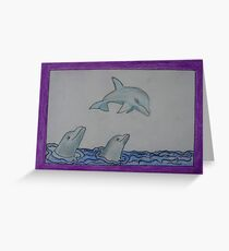 Dolphins - e-comic Knight Luminar II. The Beings of the Light Greeting Card
