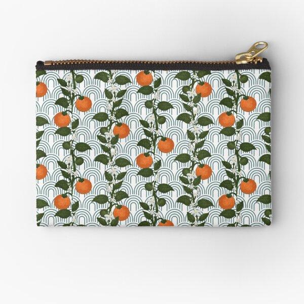 Tangerine Paper Zipper Pouch