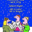 Christmas Card - Silent Night. by Nigel Sutherland
