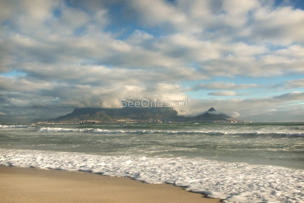 Golden Light over Table Mountain by SeeOneSoul