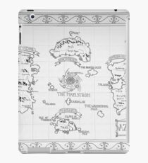 Azeroth map - Black and White hand drawn iPad Case/Skin