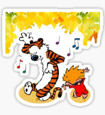 Dance Calvin and Hobbes  Sticker