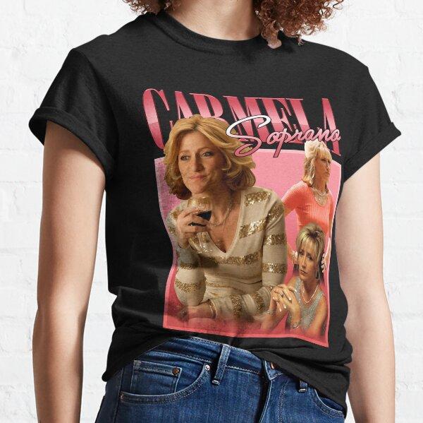 Carmela Soprano Homage, vintage Carmela Soprano, Mafia Inspired Printed Tee, Edie Falco Gift For Fan Classic T-Shirt