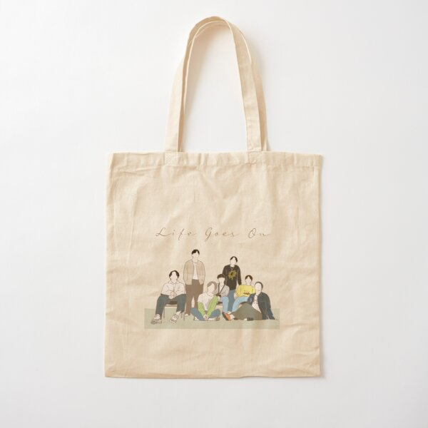 BTS Life Goes On Artwork, BTS BE, LIfe Goes on  Cotton Tote Bag