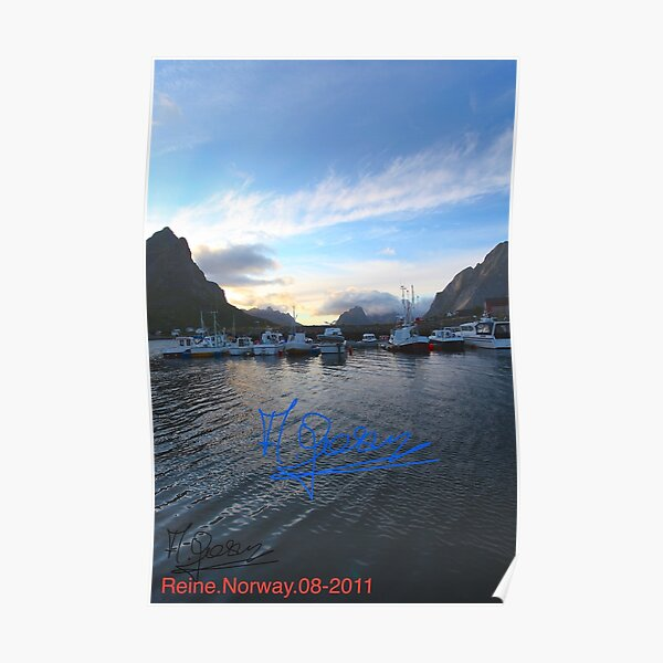 Lofoten Islands - Reine port - Norway . Anno Domini 2011. © Dr.Andrzej Goszcz. Poster