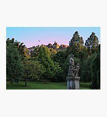 The Genius of Architecture Statue below Edinburgh Castle Photographic Print