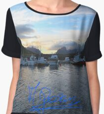 Lofoten Islands - Reine port - Norway . Anno Domini 2011. © Dr.Andrzej Goszcz. Women's Chiffon Top