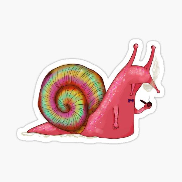 Snail Smoking Sticker