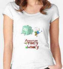 Adventure Timey wimey Women's Fitted Scoop T-Shirt